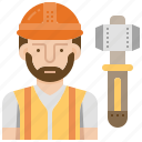 construction, engineer, foreman, occupation, worker icon