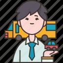 driver, transportation, service, public, occupation