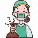 garbage, waste, collector, worker, clean icon