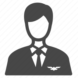 aviator, cabin crew, flight attendant, host, occupation, pilot, steward icon