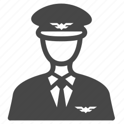 aviator, cabin crew, captain, flight attendant, occupation, pilot, steward icon