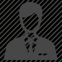 business, man, officer, reception, receptionist, salesperson, steward icon