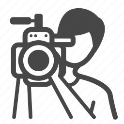 cameraman, nonfiction, occupation, photographer, recorder, shoot, video icon