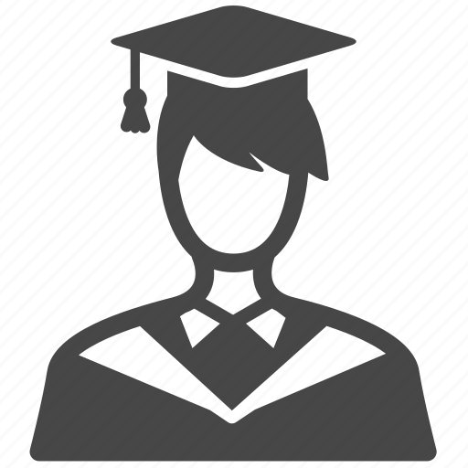 college student, education, graduated, male, man, profile, school icon