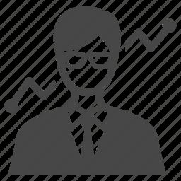 business, businessman, dealer, hustler, investor, manager, trader icon