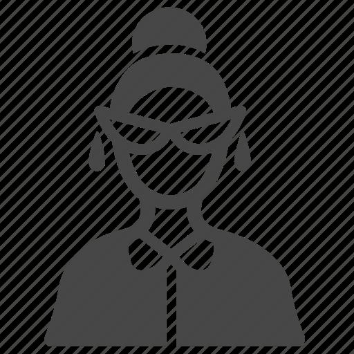 clerk, officer, scribe, secretary, teacher, user, woman icon