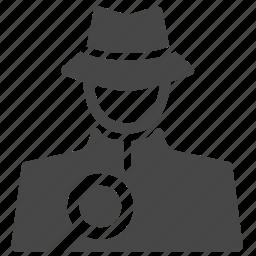 detective, hacker, inspector, investigator, sleuth, spotter, spy icon