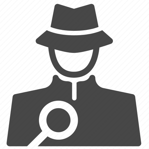 detective, hacker, inspector, investigator, sleuth, spotter, spy icon