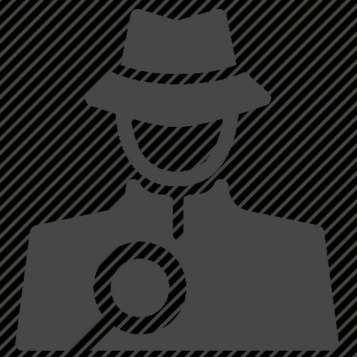 Detective, inspector, investigator, sleuth, spotter, spy, hacker icon - Download on Iconfinder