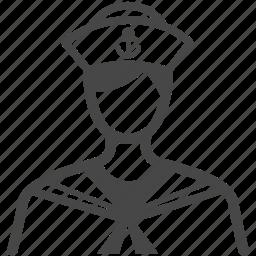 avatar, career, marine, nautical, occupation, sailor, seaman icon