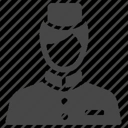bell boy, concierge, hotel, service, serviceman, steward, waiter icon