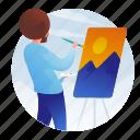 avatar, man, occupation, painter icon