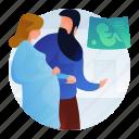 healthcare, maternity, medical, pregnancy icon