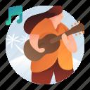 guitar, music, musician icon