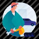 car, engineer, mechanic, occupation icon