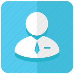 accountant, business, company, man, office, user icon