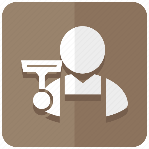 cleaner, cleaning, groundskeeper, handyman, housekeeper icon