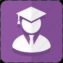 college student, education, graduation, student, graduate icon