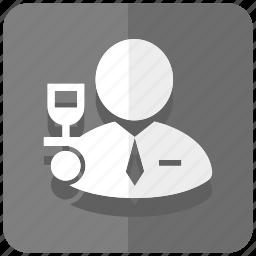 busboy, butler, serving, tasting, waiter, wine icon
