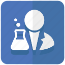 chemistry, experiment, lab, laboratory, researcher icon
