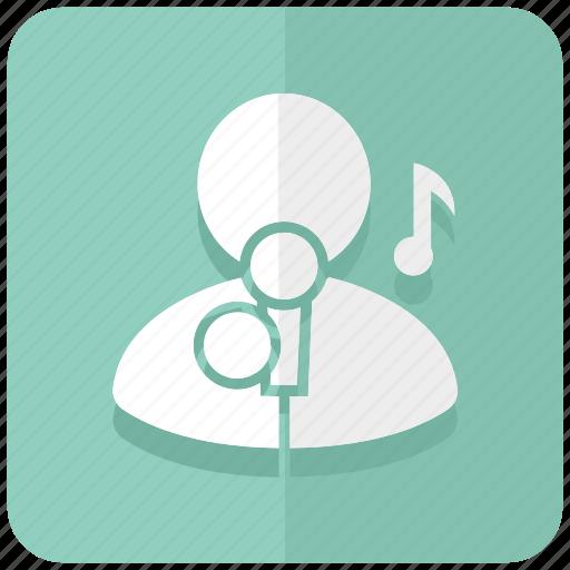 hobby, karaoke, music, sing, singer, song, vocal icon