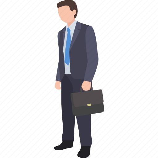 businessman, company, lawyer, office, salesman, white collar, worker icon