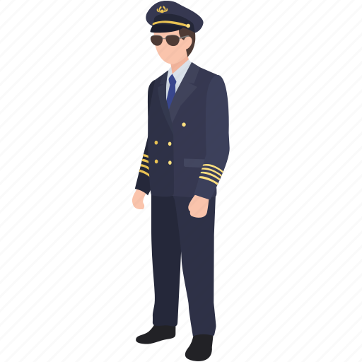 airline, airman, aviator, captain, flight, pilot, wingman icon