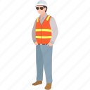 construction, council, engineer, overseer, road, site, worker icon