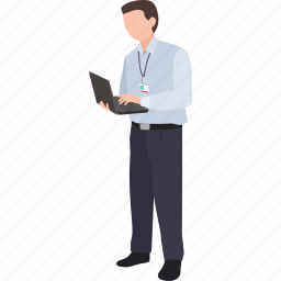computer, consultant, manager, network, office, support, tech icon