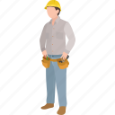 builder, construction, electrician, engineer, lineman, repairman, worker icon