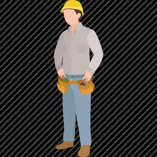 builder, construction, electrician, engineer, lineman, repairman, worker icon