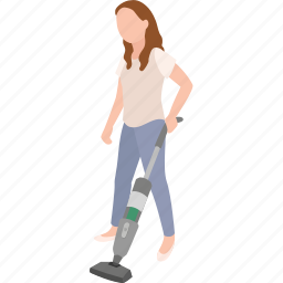 chore, cleaning, domestic, housekeeper, housewife, vacuum, vacuuming icon