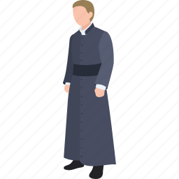catholic, cleric, father, minister, preacher, priest, reverend icon