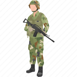 defence force, marine, military, rifleman, serviceman, soldier, trooper icon
