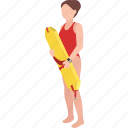 beach, female, lifeguard, lifesaver, pool, rescue, surf icon