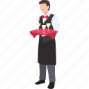 bartender, butler, cocktail, drinks, server, service, waiter icon