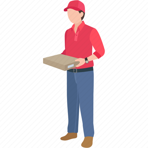 courier, delivery, express, man, parcel, pizza, postage icon