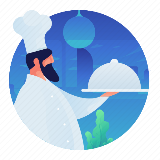chef, cooking, kitchen, man, occupation, people icon