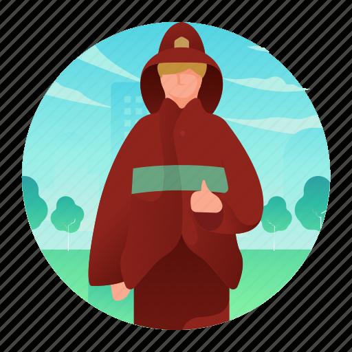 avatar, firefighter, fireman, man, occupation icon