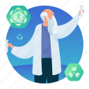 lab, man, occupation, science, scientist icon