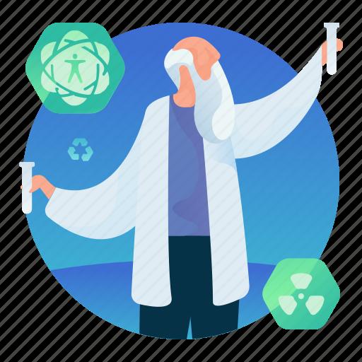 lab, man, occupation, science, scientist icon