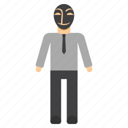 anonymous, cyber crime, hacker, intruder, thief icon