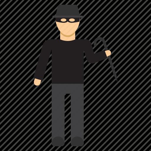 burglar, crime, criminal, gangster, robber, thief icon