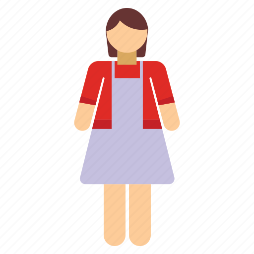 female, girl, lady, maid, mother, wife, woman icon