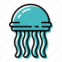 fish, jellyfish, marine, ocean, sea icon