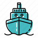 boat, marine, ocean, sea, ship, transportation icon