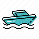 boat, marine, ocean, sea, transportation, yacht icon