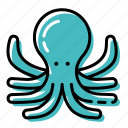 fish, marine, ocean, octopus, sea icon