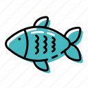 fish, marine, ocean, sea icon