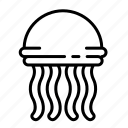 fish, jellyfish, marine, ocean, sea icon